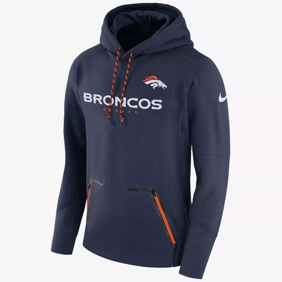 half off 47f75 d513c NFL Denver Broncos Nike Pullover Hoodie Sweatshirt NWT